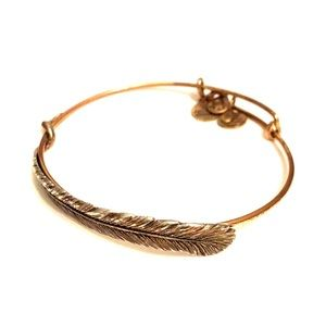 Alex and Ani Brass Feather Bracelet